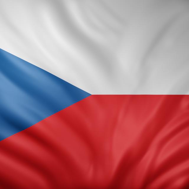 """Czech Republic 3d flag"" stock image"
