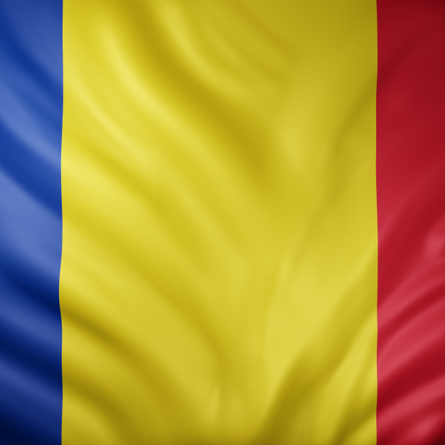 """Romania 3d flag"" stock image"