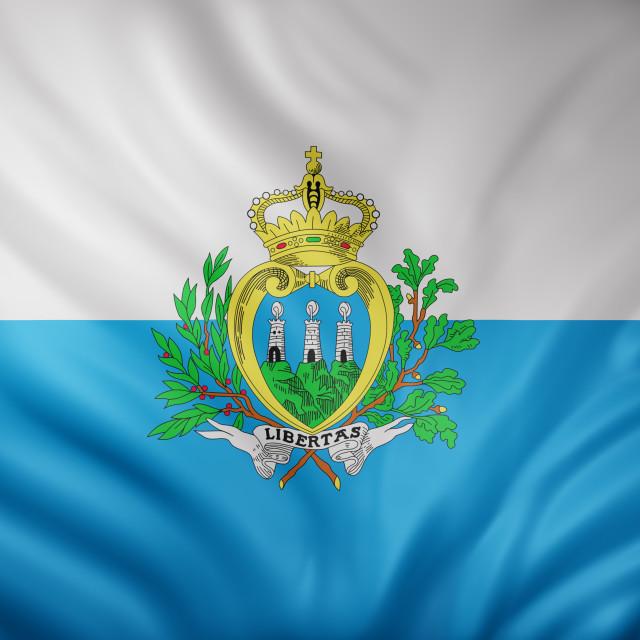 """San Marino 3d flag"" stock image"