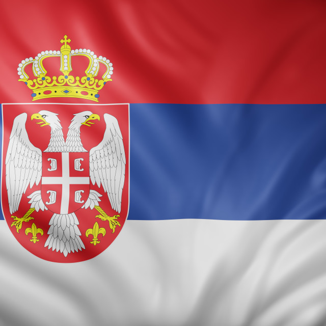 """""""Serbia 3d flag"""" stock image"""