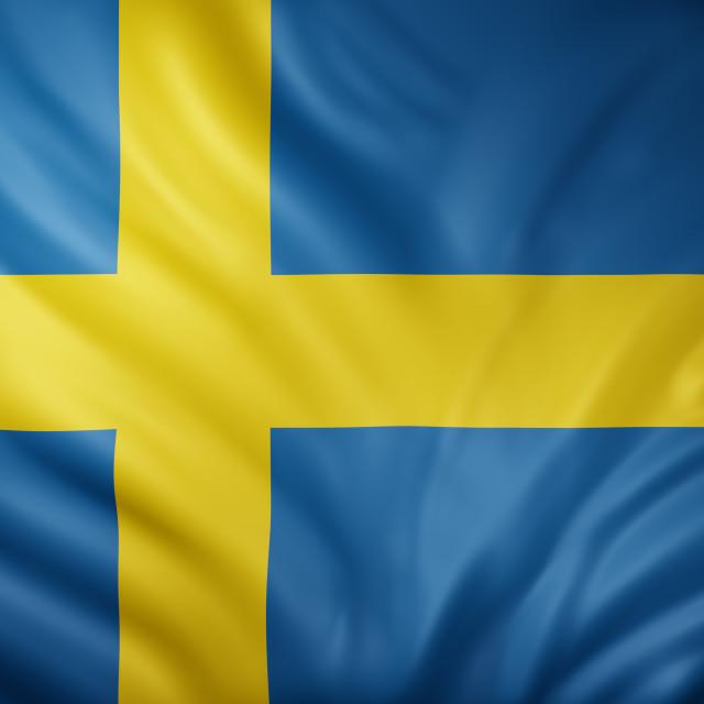 """""""Sweden 3d flag"""" stock image"""