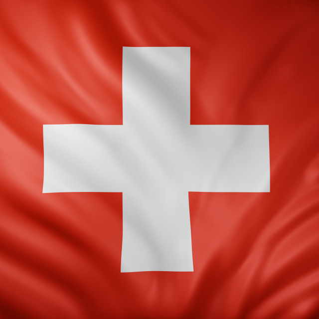 """Switzerland 3d flag"" stock image"