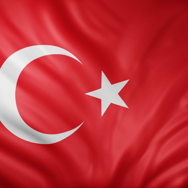 """Turkey 3d flag"" stock image"
