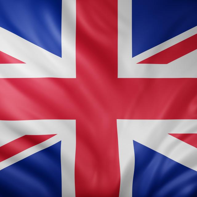 """United Kingdom 3d flag"" stock image"