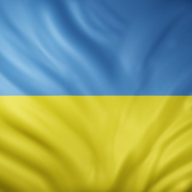 """Ukraine 3d flag"" stock image"