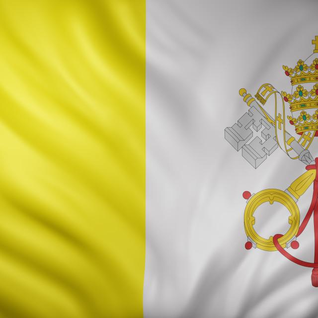 """Vatican 3d flag"" stock image"