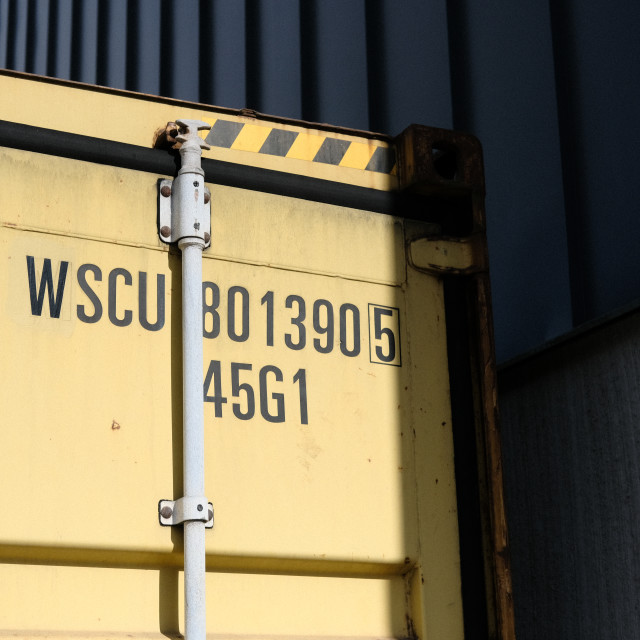 """Contrasty shipping container"" stock image"