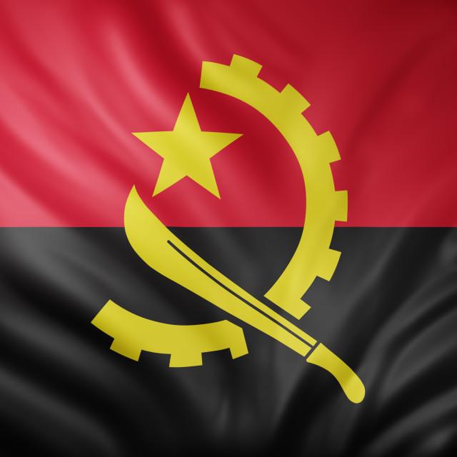 """""""Angola 3d flag"""" stock image"""