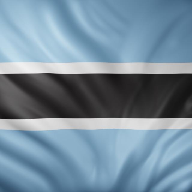 """Botswana 3d flag"" stock image"
