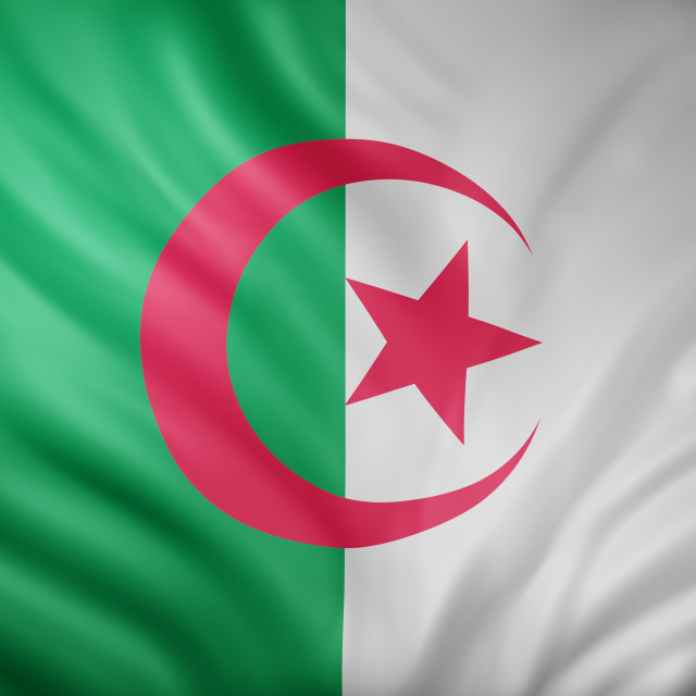 """Algeria 3d flag"" stock image"