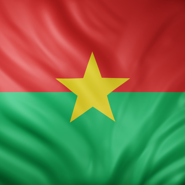 """Burkina Faso 3d flag"" stock image"