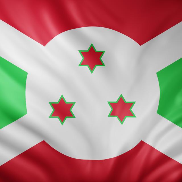 """Burundi 3d flag"" stock image"