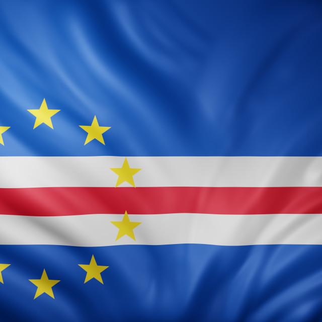 """""""Cape Verde 3d flag"""" stock image"""