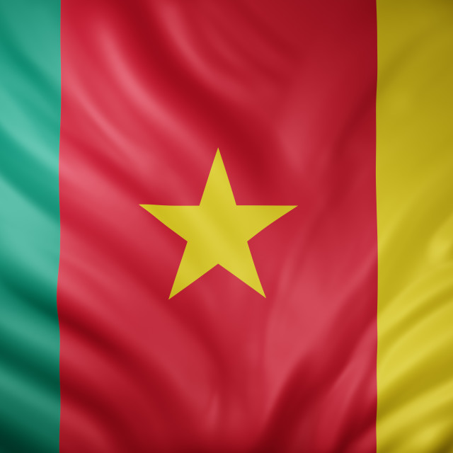"""""""Cameroon 3d flag"""" stock image"""
