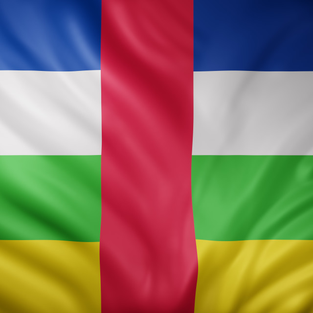 """""""Central African Republic 3d flag"""" stock image"""