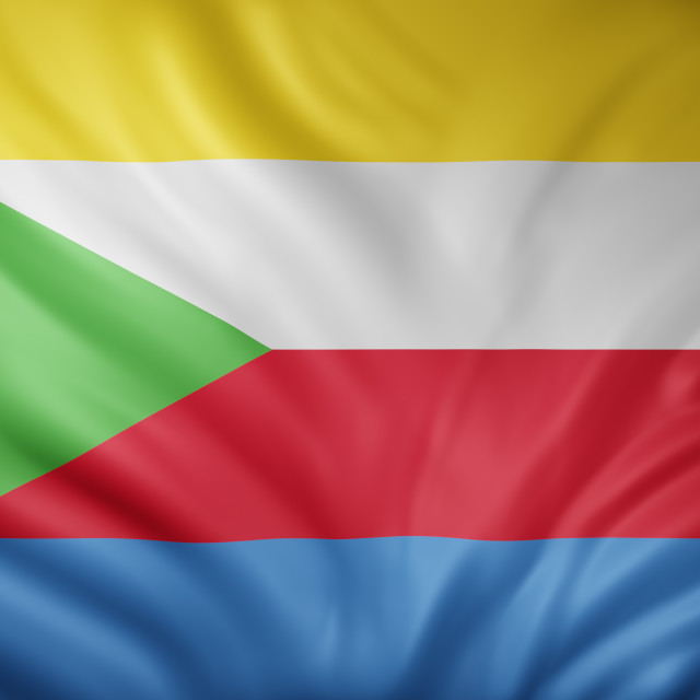 """""""Union of the Comoros 3d flag"""" stock image"""