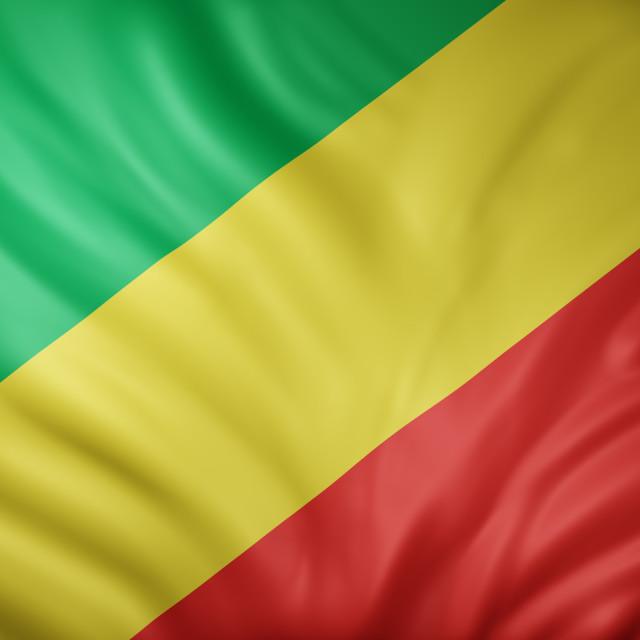 """Republic of Congo 3d flag"" stock image"