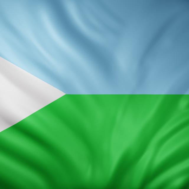 """Djibouti 3d flag"" stock image"