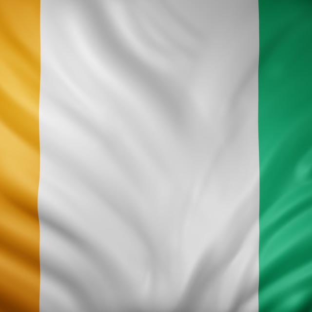 """""""Ivory Coast 3d flag"""" stock image"""