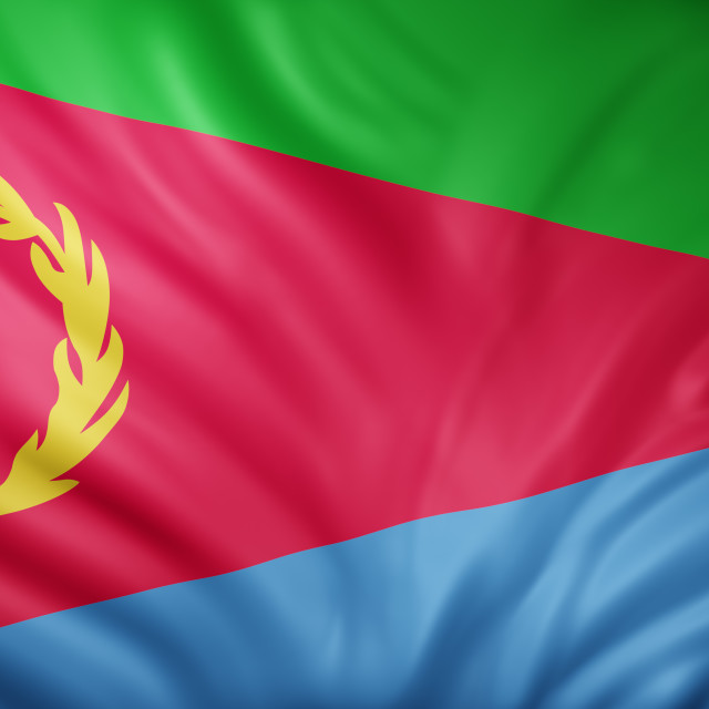 """Eritrea 3d flag"" stock image"