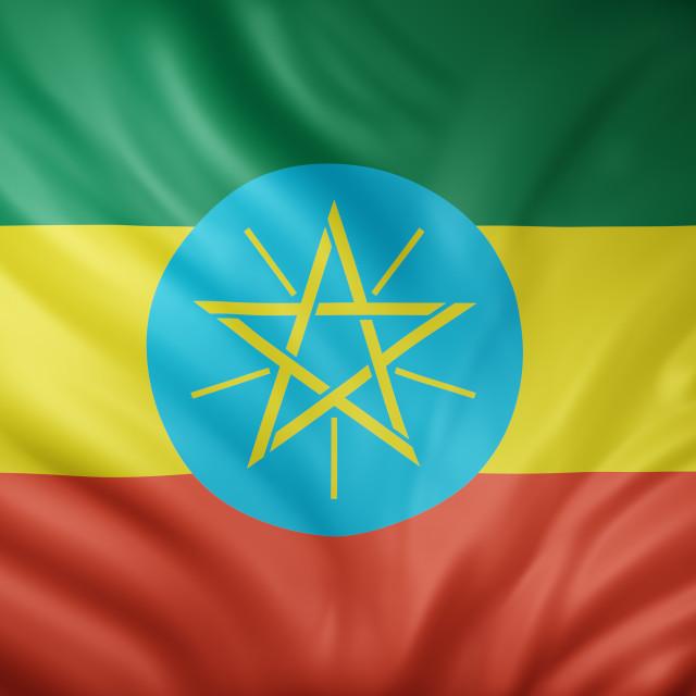 """Ethiopia 3d flag"" stock image"