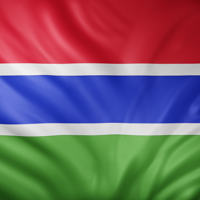 """""""Gambia 3d flag"""" stock image"""