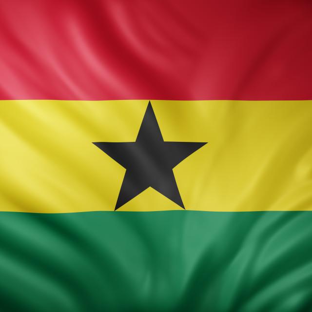 """""""Ghana 3d flag"""" stock image"""