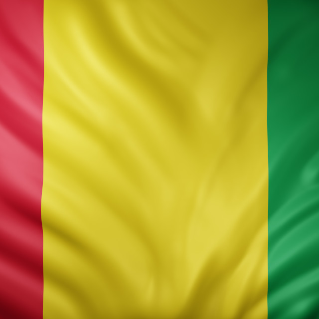 """Guinea 3d flag"" stock image"