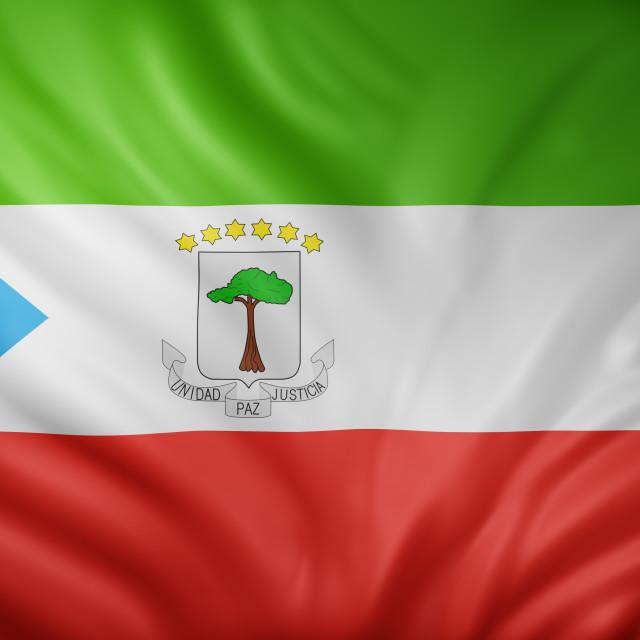 """""""Equatorial Guinea 3d flag"""" stock image"""