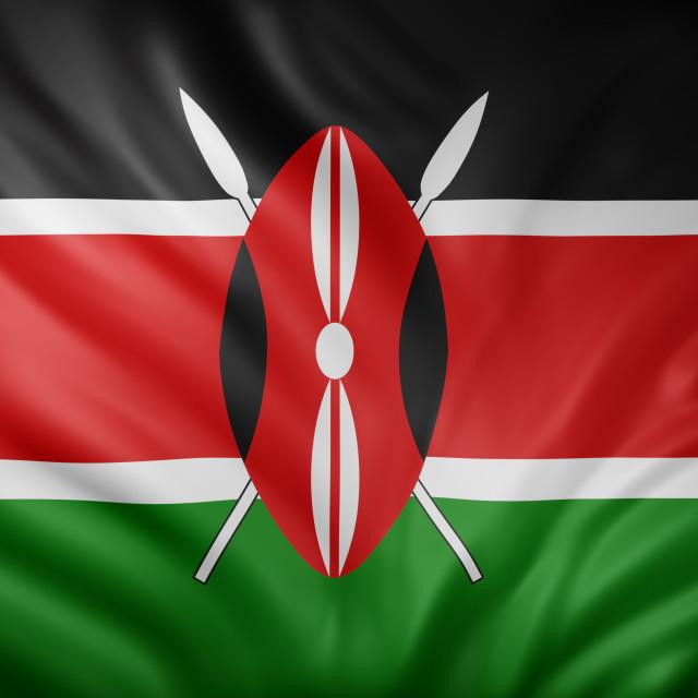 """Kenya 3d flag"" stock image"
