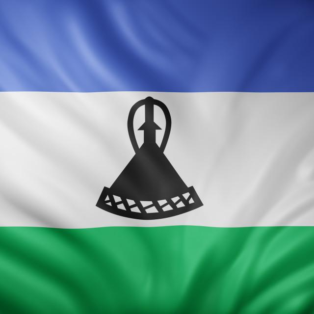 """Lesotho 3d flag"" stock image"