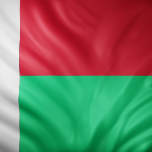 """Madagascar 3d flag"" stock image"