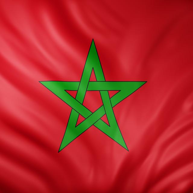 """Morocco 3d flag"" stock image"