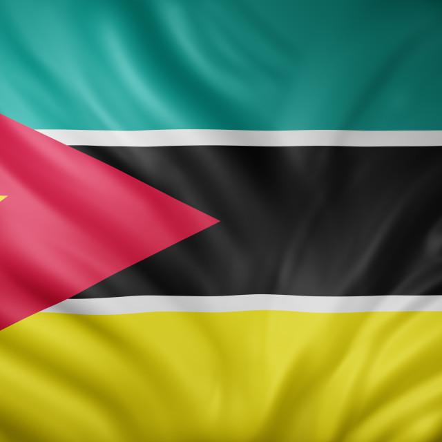 """""""Mozambique 3d flag"""" stock image"""