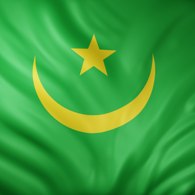 """Mauritania 3d flag"" stock image"