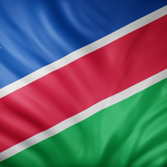 """Namibia 3d flag"" stock image"