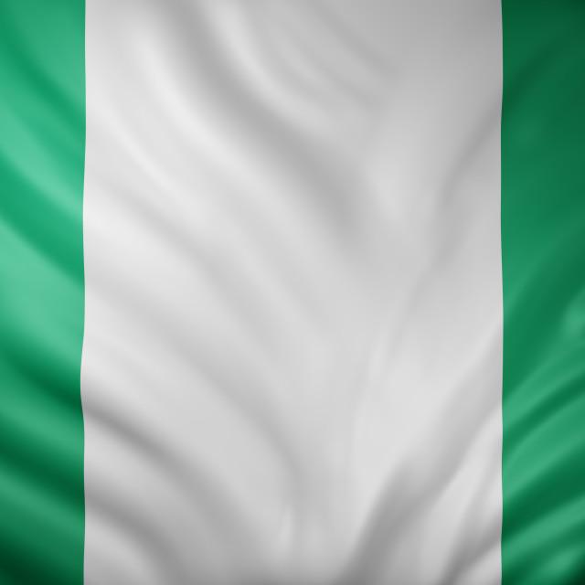 """""""Nigeria 3d flag"""" stock image"""