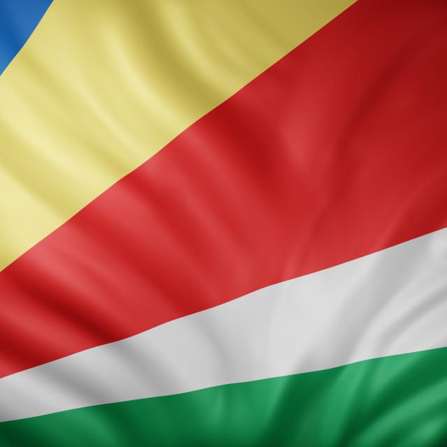 """Seychelles 3d flag"" stock image"