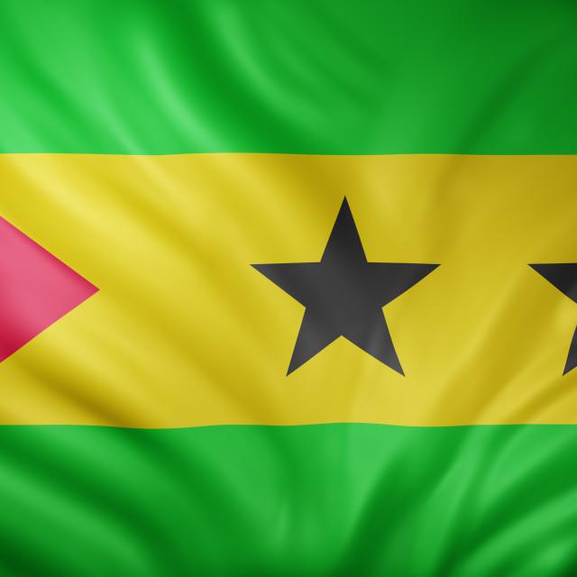 """""""Sao Tome and Principe 3d flag"""" stock image"""