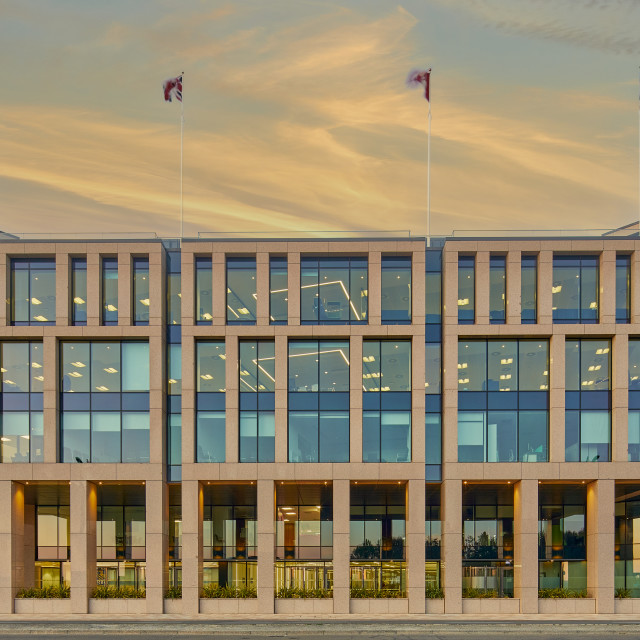 """""""Image of office block, St Helier, Jersey CI .Jersey is an off-shore finance centre providing financial services . 3 May 2021- Editorial Use Only"""" stock image"""