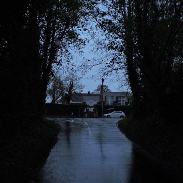 """Early Rainy Morning, Street View, Middleton, April 2021"" stock image"