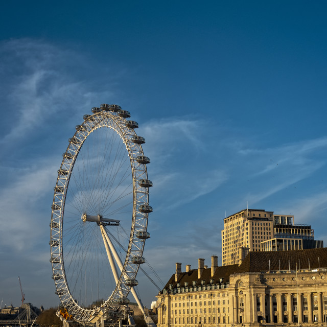 """""""The London Eye and County Hall"""" stock image"""