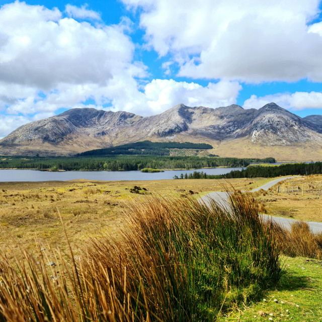 """""""Lough Inagh"""" stock image"""