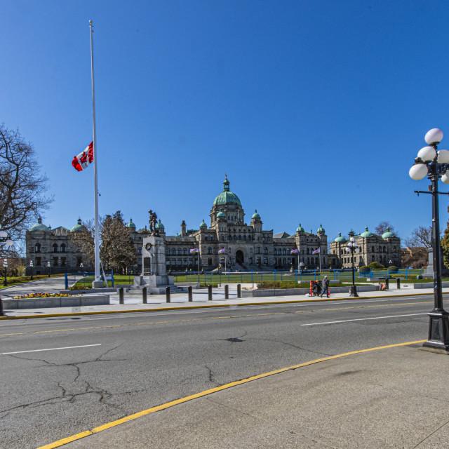 """""""British Columbia Legislature, Victoria, BC"""" stock image"""