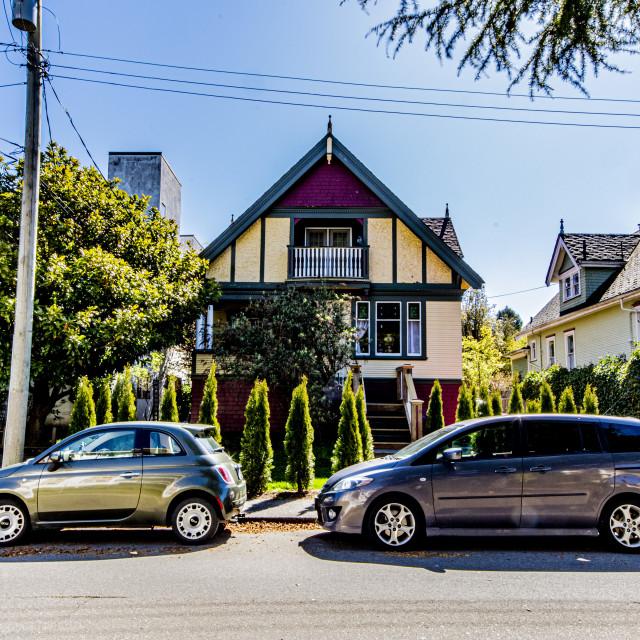"""A Walk Through Victoria's Old Neighbourhoods"" stock image"