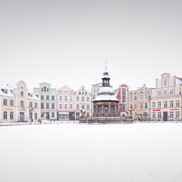 """Wismar town square"" stock image"