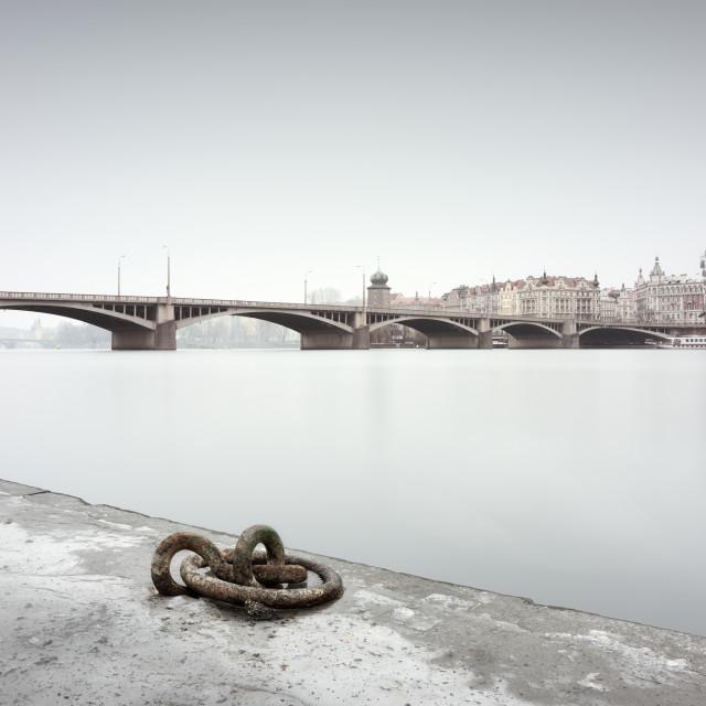 """""""Prague river scene"""" stock image"""