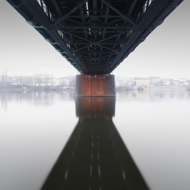 """""""Under the bridge"""" stock image"""