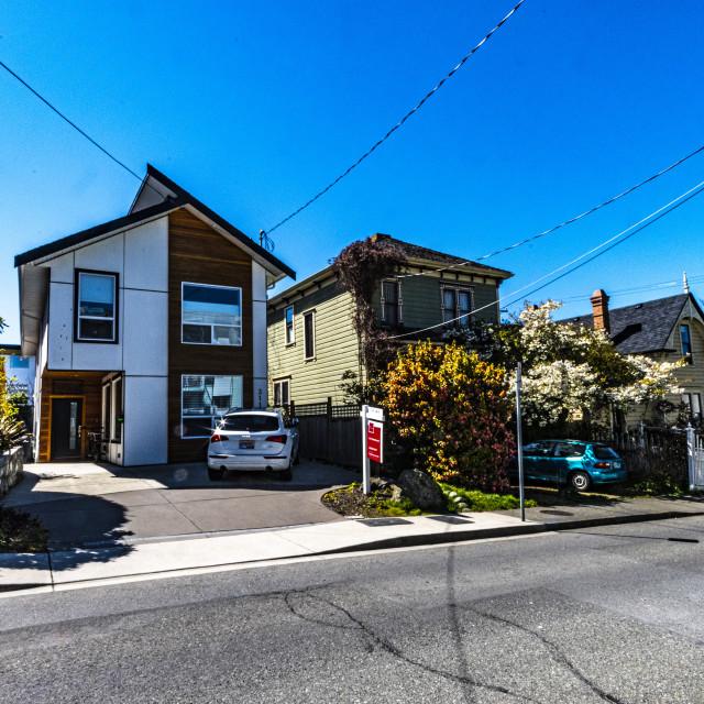"""""""Victoria's Old Neighbourhoods"""" stock image"""