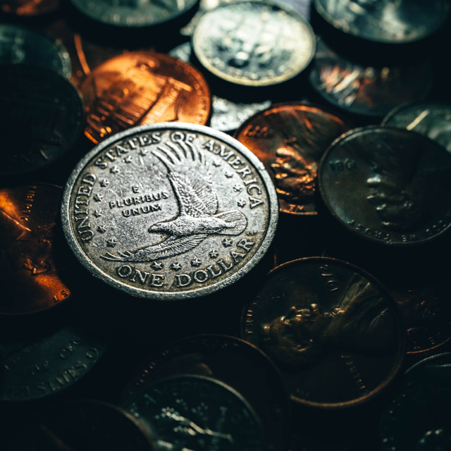 """""""Coins"""" stock image"""